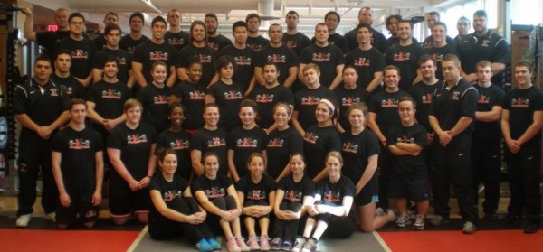 The 2013 Northeastern Powerlifting Team (NUPL) where Drew is the Treasurer on the Executive Board of the team.